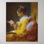 Young Girl Reading - Jean-Honoré Fragonard Poster