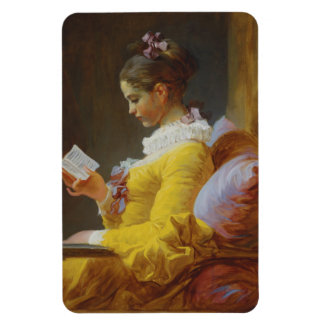 Young Girl Reading - Jean-Honoré Fragonard Vinyl Magnets