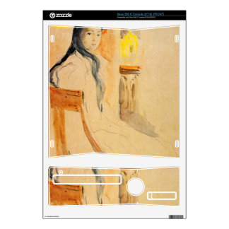 Young girl resting by Berthe Morisot Decals For The Xbox 360 S