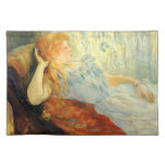Young girl resting by Berthe Morisot Placemats