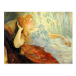 Young girl resting by Berthe Morisot Postcard