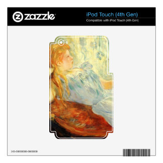 Young girl resting by Berthe Morisot iPod Touch 4G Skin