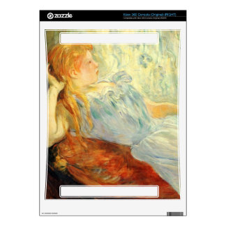 Young girl resting by Berthe Morisot Xbox 360 Skin