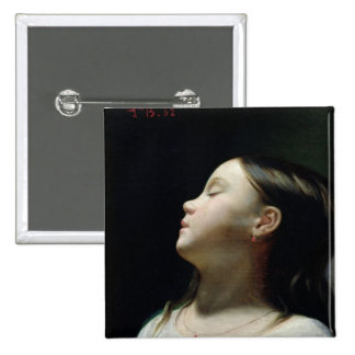 Young Girl Sleeping, 1852 Pinback Button