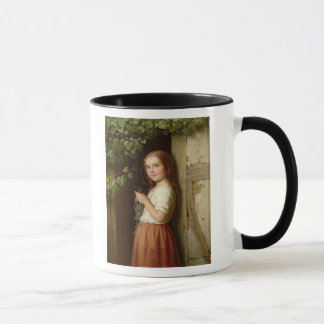 Young Girl Standing in a Doorway Knitting, 1863 Mug