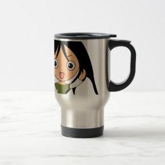 Young girl travel mug