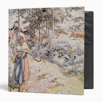 Young Girl Weaving 1905 Vinyl Binder
