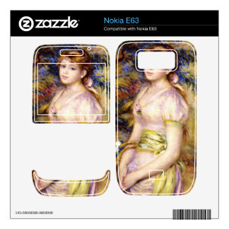Young Girl with a Basket of Flowers by Renoir Skins For The Nokia E63