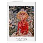 Young Girl With A Cage By Morisot Berthe Greeting Card