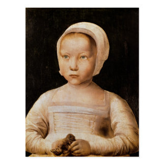 Young Girl with a Dead Bird, c.1500-25 Postcard