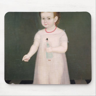 Young Girl with a Doll, 1838 Mouse Pad