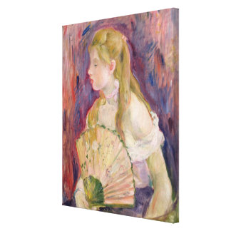 Young Girl with a Fan, 1893 Canvas Print