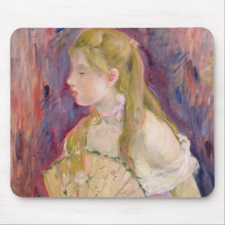 Young Girl with a Fan, 1893 Mouse Pad