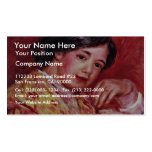 Young Girl With A Fan By Pierre-Auguste Renoir Business Card Template