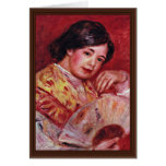 Young Girl With A Fan By Pierre-Auguste Renoir Card
