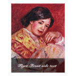 Young Girl With A Fan By Pierre-Auguste Renoir Flyer