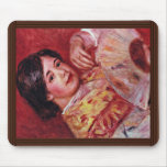 Young Girl With A Fan By Pierre-Auguste Renoir Mouse Pad