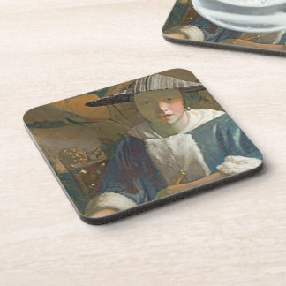 Young Girl with a Flute, c.1665-70 Beverage Coaster