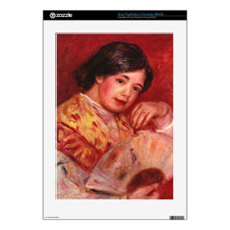Young girl with fan by Pierre Renoir PS3 Decals