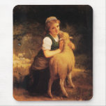 Young Girl With Lamb Mouse Pad