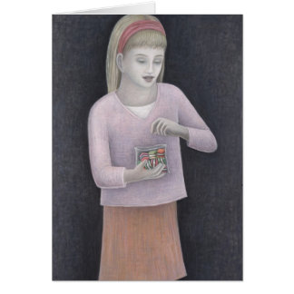 Young Girl with Sweets 2007 Card