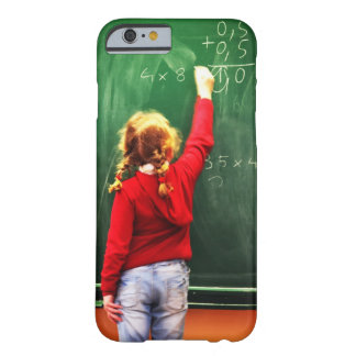 young girl writing on a blackboard barely there iPhone 6 case