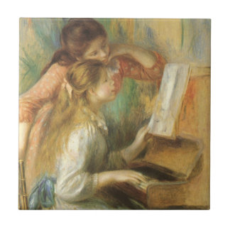 Young Girls at Piano by Pierre Renoir Ceramic Tile