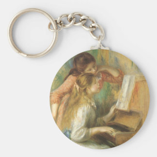 Young Girls at Piano by Pierre Renoir Keychain