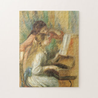 Young Girls at Piano by Renoir, Vintage Fine Art Jigsaw Puzzle