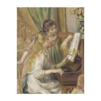 Young Girls at the Piano by Auguste Renoir Canvas Print
