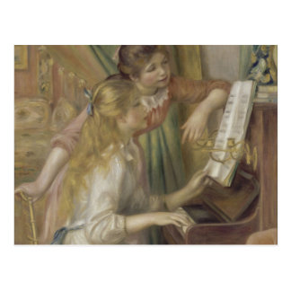 Young Girls at the Piano by Auguste Renoir Postcard