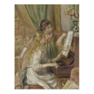 Young Girls at the Piano by Pierre-Auguste Renoir Postcard
