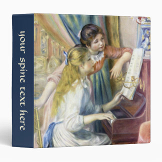 Young Girls at the Piano by Pierre Renoir Binder