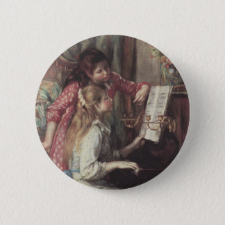 Young Girls at the Piano by Pierre Renoir Button
