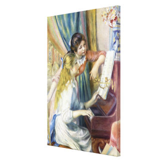 Young Girls at the Piano by Pierre Renoir Canvas Print