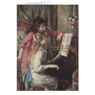 Young Girls at the Piano by Pierre Renoir Card