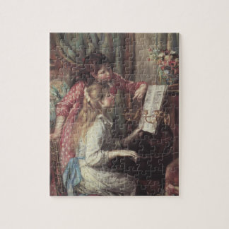 Young Girls at the Piano by Pierre Renoir Jigsaw Puzzle