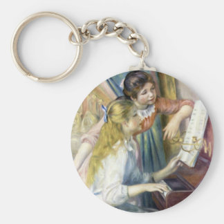 Young Girls at the Piano by Pierre Renoir Keychain
