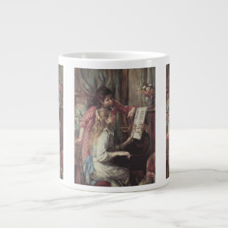 Young Girls at the Piano by Pierre Renoir Large Coffee Mug