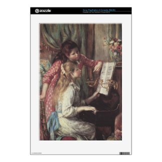 Young girls at the piano by Pierre Renoir Skin For The PS3