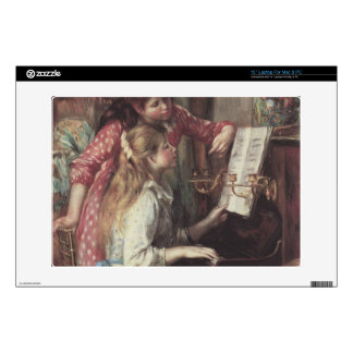 Young girls at the piano by Pierre Renoir Skins For Laptops