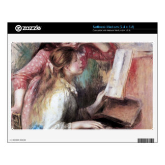 Young girls at the piano by Pierre Renoir Medium Netbook Skin