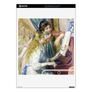 Young girls at the piano by Pierre Renoir PS3 Slim Skin