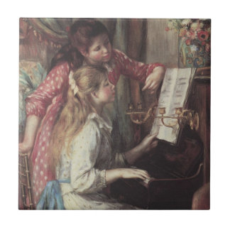 Young Girls at the Piano by Pierre Renoir Tile