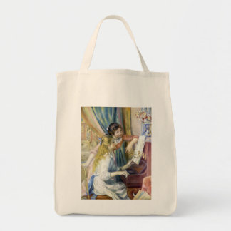 Young Girls at the Piano by Pierre Renoir Tote Bag