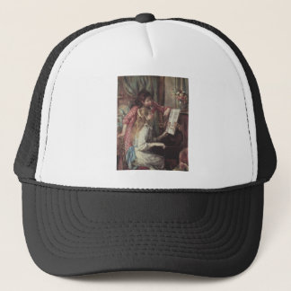 Young girls at the piano by Pierre Renoir Trucker Hat