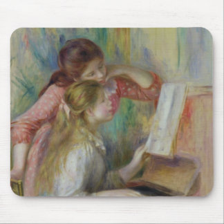 Young Girls at the Piano, c.1890 Mousepad
