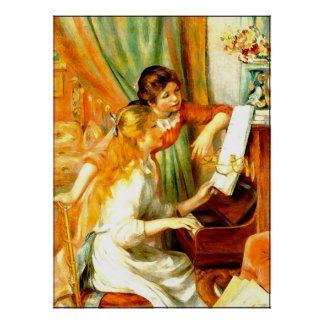 Young Girls at the Piano Poster (in many sizes)