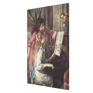 Young Girls at the Piano, Renoir Impressionism Art Canvas Print