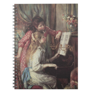 Young Girls at the Piano, Renoir Impressionism Art Notebook